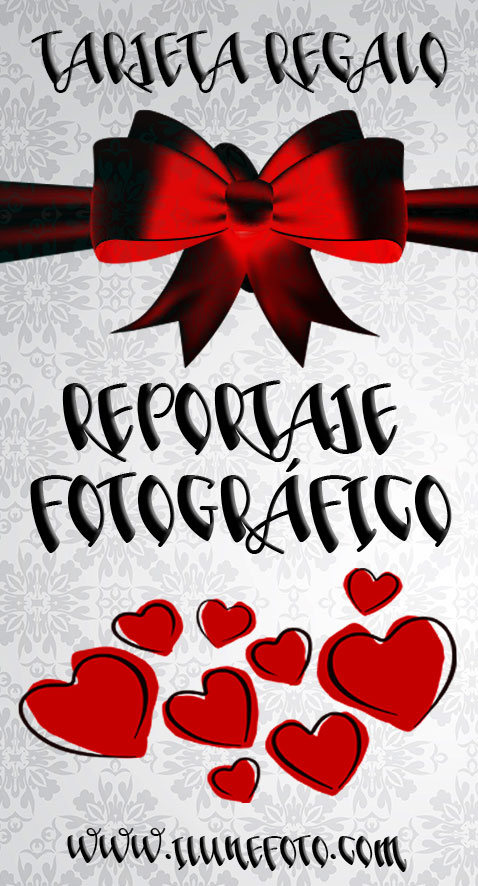 Tarjeta regalo reportaje fotográfico