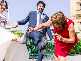 Patricia e Iurgi de boda por Donostia